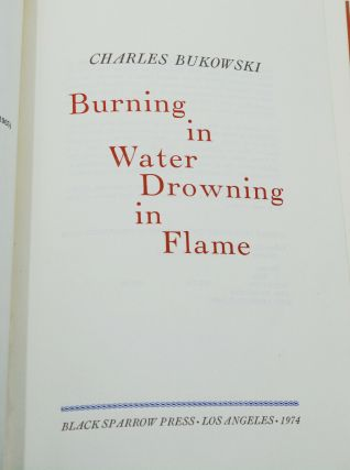 Burning in Water Drowning in Flame: Selected Poems 1955-1973