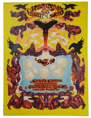 Original psychedelic poster for the Oakland Ballet accompanied by visuals and music at Schwimley...