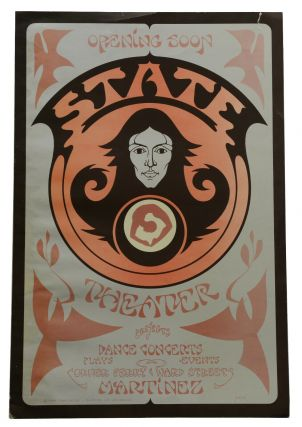 Original poster for opening of State Theater in Martinez, California. David Singer