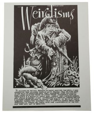 "Original ""Wizard"" poster from Weirdisms series. Lee Brown Coye"