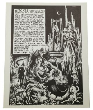 "Original ""Witches"" poster from the Weirdisms series. Lee Brown Coye"