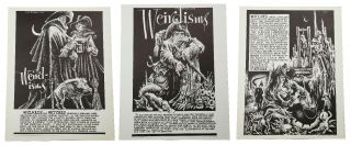 Complete three poster set of the Weirdisms series. Lee Brown Coye