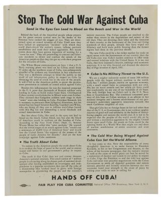 Four pieces of ephemera from Fair Play for Cuba Committee. Richard Gibson