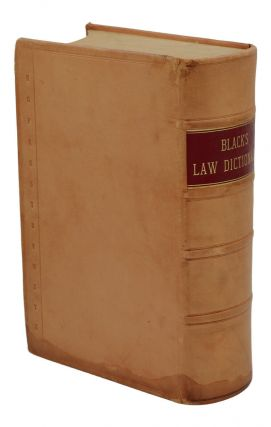 A Dictionary of Law (Black's Law Dictionary)