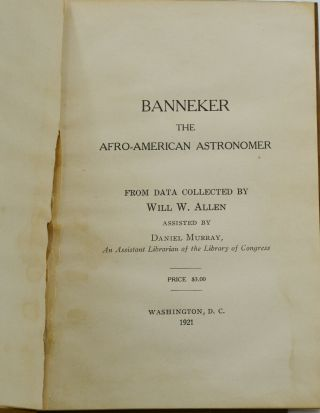 Banneker: The Afro-American Astronomer