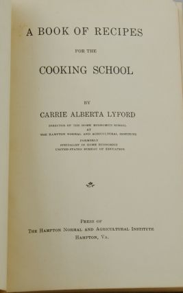 Book of Recipes for the Cooking School