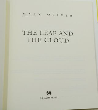 The Leaf and the Cloud