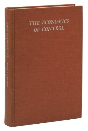 The Economics of Control: Principles of Welfare Economics. Abba Lerner