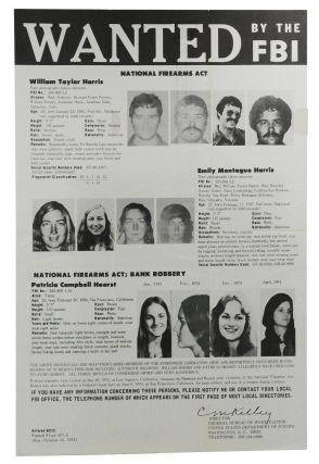 Wanted by the FBI: William Taylor Harris, Emily Montague Harris, and Patricia Campbell Hearst...