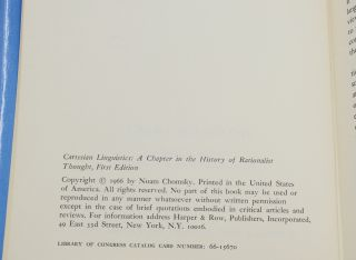 Cartesian Linguistics: A Chapter in the History of Rationalistic Thought