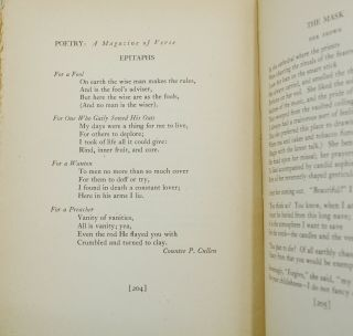 """""""Epitaphs"""" by Countee Cullen in Poetry: A Magazine of Verse, Volume XXVI, Number IV, July 1925"""