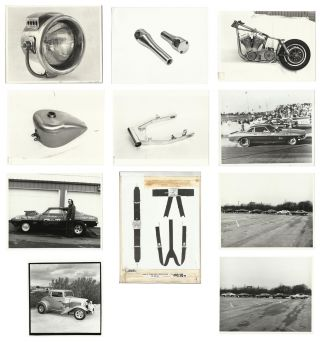 Photograph and Marketing Archive of White's Pit Stop, a Custom Drag Racing & Motorcycle Shop