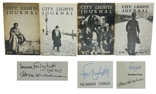 City Lights Journal Numbers One through Four. Lawrence Ferlinghetti, Jack Hirschman, Mendes...