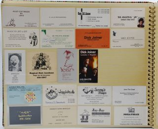 Large Collection of Magician Business Cards
