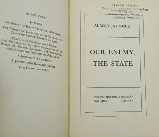 Our Enemy, the State
