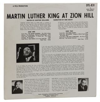 Martin Luther King at Zion Hill (Record Album)