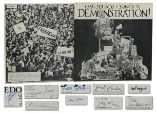 FSM's Sounds & Songs of the Demonstration! & Is Freedom Academic? (Two LPs signed by Mario Savio...