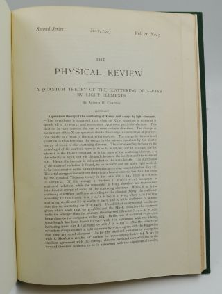 A Quantum Theory of the Scattering of X-rays by Light Elements [in] The Physical Review Second Series, Vol. 25, No. 5, May 1923