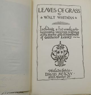 Leaves of Grass with Autobiography