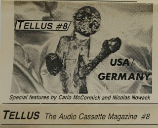 TELLUS: The Audio Cassette Magazine, #8, USA / Germany