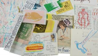 Large archive of mail art