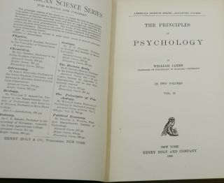 The Principles of Psychology (American Science Series, Advanced Course)