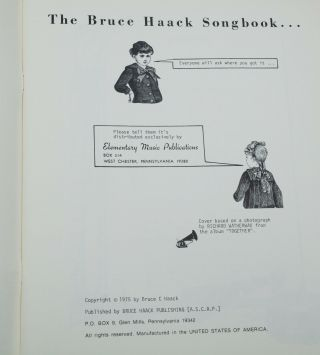 The Bruce Haack Songbook: Including the Best from Dimension 5 Records for Children