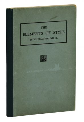 The Elements of Style. William Strunk Jr