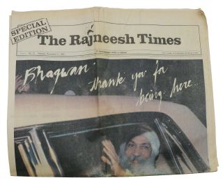The Rajneesh Times: A Newspaper with a Vision, Vol. 4 - No. 12, Monday, November 11, 1985