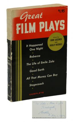Great Film Plays: Being Volume 1 of a New Edition of Twenty Best Film Plays. Dudley Nichols, John...