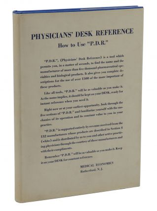 Physician's Desk Reference to Pharmaceutical Specialties and Biologicals. J. Morgan Jones
