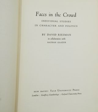 Faces in the Crowd: Individual Studies in Character and Politics