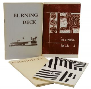 Burning Deck 1-4 (Complete Run). James Camp, D C. Hope, Keith Waldrop, W S. Merwin, Philip...