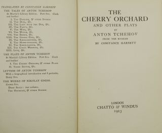 The Cherry Orchard and Other Plays (The Plays of Tchehov Vol. 1)