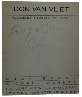 Don Van Vliet: 7 December to 28 December 1985. Captain Beefheart, Don Van Vliet