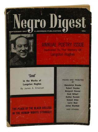 Negro Digest, September 1967: Annual Poetry Issue Dedicated to the Memory of Langston Hughes....