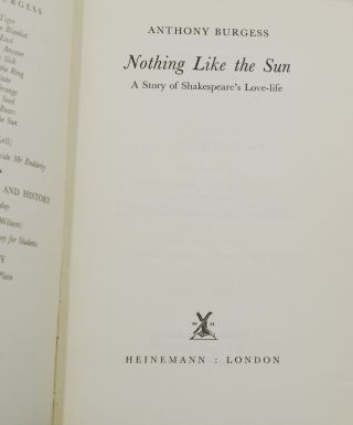 Nothing like the Sun: A Story of Shakespeare's Love Life
