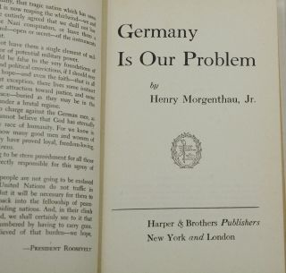 Germany is Our Problem