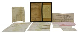 Wallet of union documents from an American female welder in WWII
