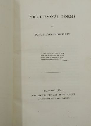 Posthumous Poems of Percy Bysshe Shelley