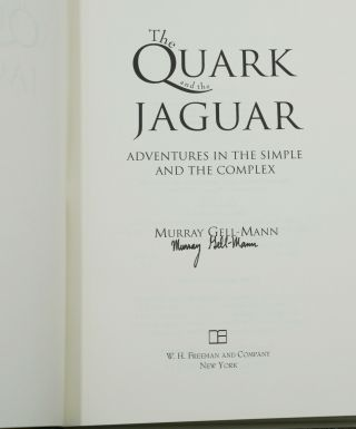 The Quark and the Jaguar: Adventures in the Simple and Complex
