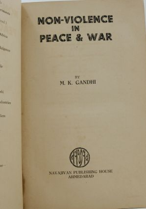Non-Violence in Peace and War