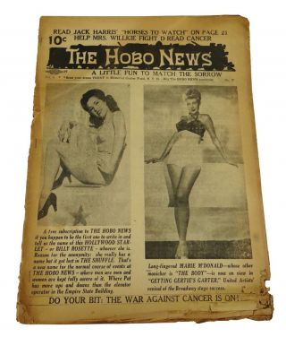 The Hobo News: A Little Fun to Match the Sorrow, Vol. 6 No. 17, April 23, 1946. Patrick Mulkern,...