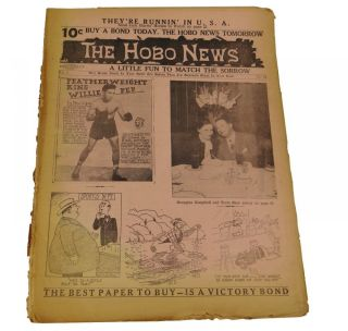 The Hobo News: A Little Fun to Match the Sorrow August 20, 1945. Patrick Mulkern