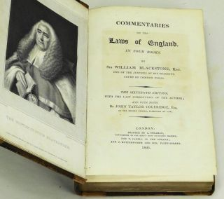 Commentaries on the Laws of England. In Four Books.