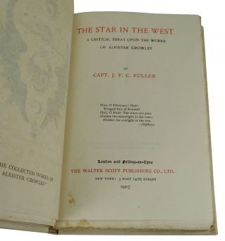 The Star in the West: A Critical Essay Upon the Works Of Aleister Crowley