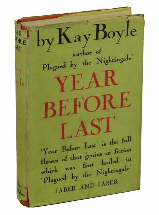 Year Before Last. Kay Boyle