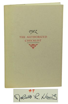 Oyez: The Authorized Checklist. Dave Bohn, John Carpenter, Robert Hawley