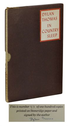 In Country Sleep. Dylan Thomas.