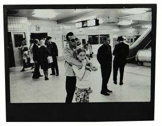 Bus station characters and travellers circa 1972, probably New York in seven black-and-white...
